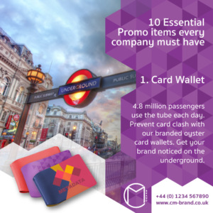 10 Essential Promo Items every company must have Oyster Card Wallet