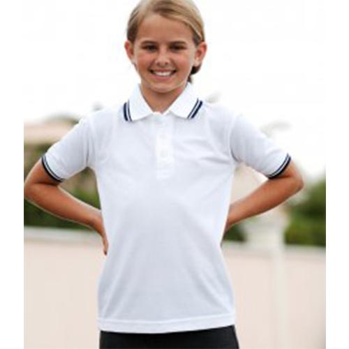 fa548dacc118 Branded Henbury Kids Tipped Poly Cotton Piqu Polo Shirt