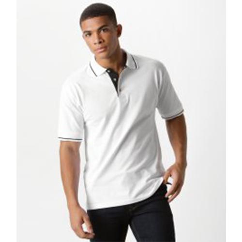 bd297448bf8c Branded Kustom Kit St Mellion Tipped Cotton Piqu Polo Shirt